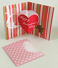 バレンタインカード・ポップアップカード